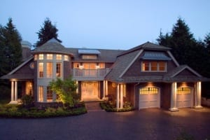 modern house evening
